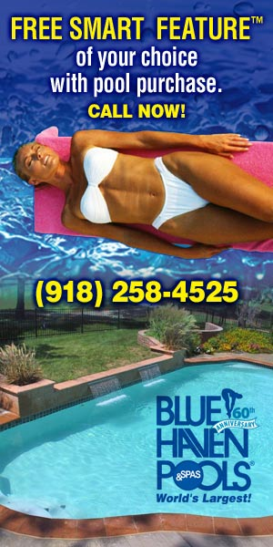 Blue Haven Pools Tulsa OK smart features ad