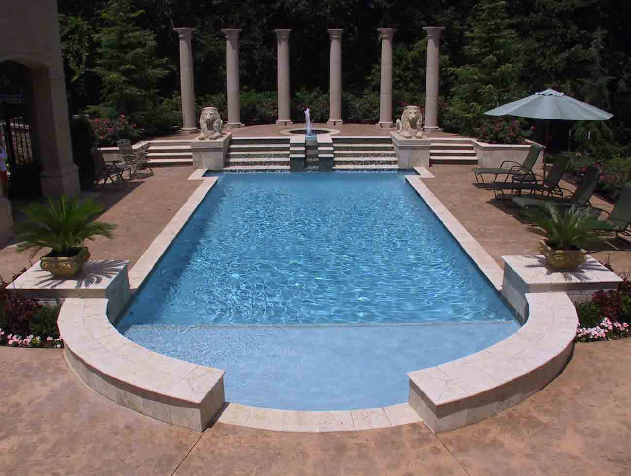 Tulsa pool builders installation blue haven pools tulsa for Built in pools